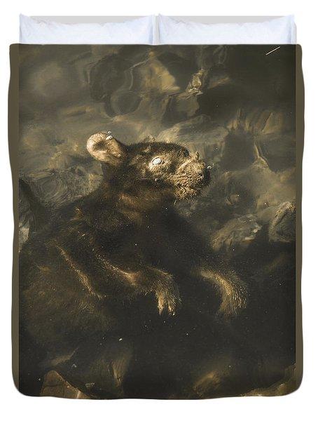 Drowned Tasmanian Possum Duvet Cover