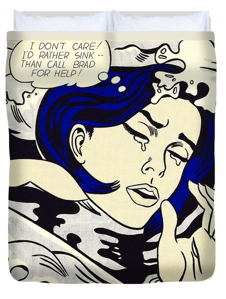 Drowning Girl - Aka Secret Hearts, I Don't Care Or I'd Rather Sink Duvet Cover