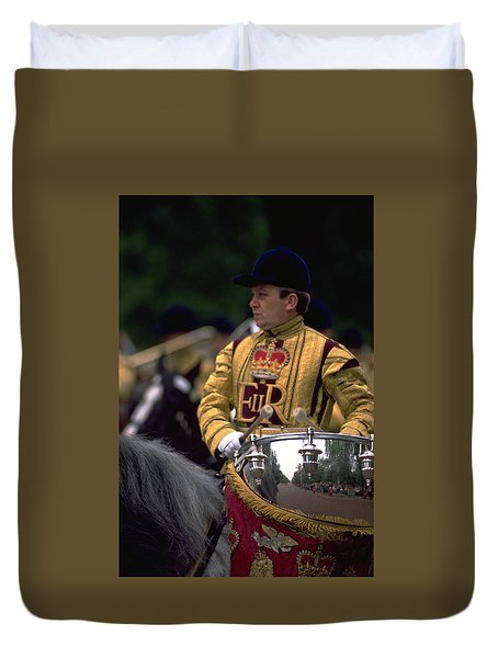 Duvet Cover featuring the photograph Drum Horse At Trooping The Colour by Travel Pics