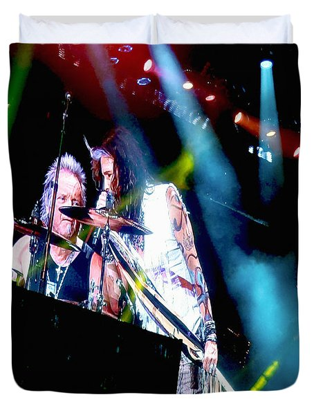 Drum Solo. Aerosmith Live  Duvet Cover