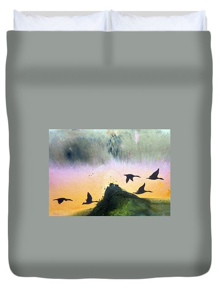 Lake Lucerne Duvet Cover by Ed  Heaton