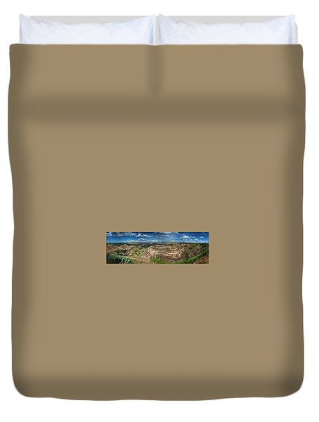 Drumheller Panorama Duvet Cover