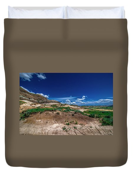 Drumheller Side View Duvet Cover by Patrick Boening