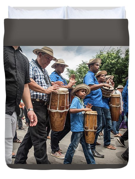 Drummer Boy In Parade Duvet Cover