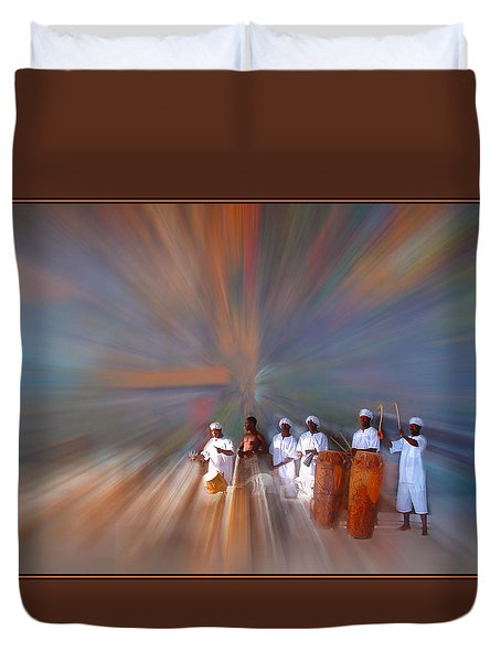 Drummers In A Dream Duvet Cover