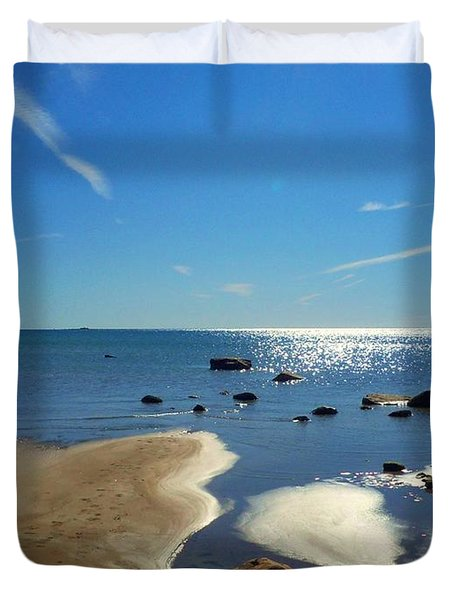 Drummond Shore 1 Duvet Cover by Desiree Paquette