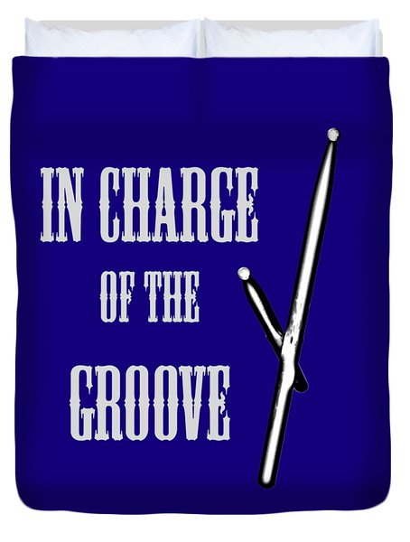 Drums In Charge Of The Groove 5530.02 Duvet Cover