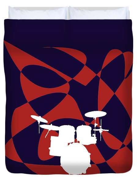 Drums In Purple Strife Duvet Cover