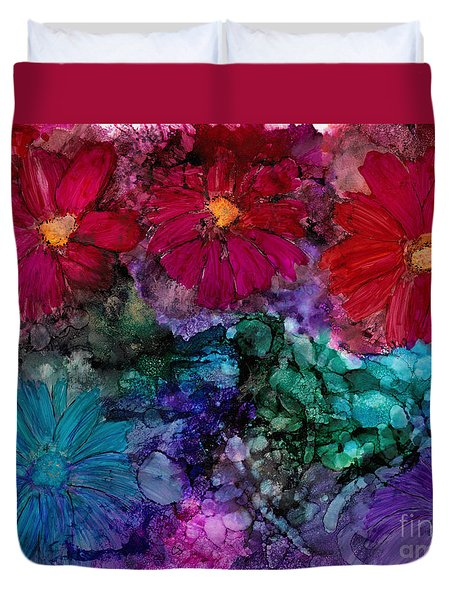 Drunken Flowers Duvet Cover