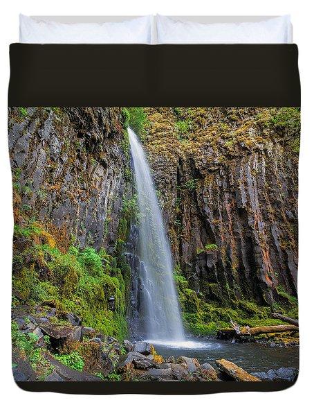 Dry Creek Falls Duvet Cover by David Gn