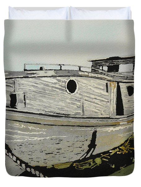 Dry Docked Duvet Cover by Terry Honstead