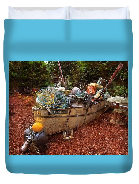 Duvet Cover featuring the photograph Dry Dock Art by Thom Zehrfeld