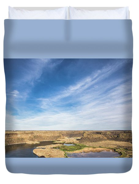 Dry Fall, Washington Duvet Cover