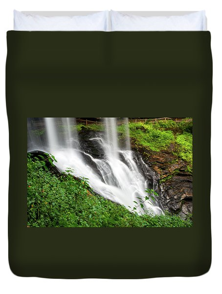 Duvet Cover featuring the photograph Dry Falls by Allen Carroll