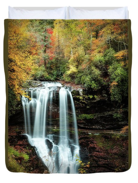 Dry Falls Autumn Splendor Duvet Cover