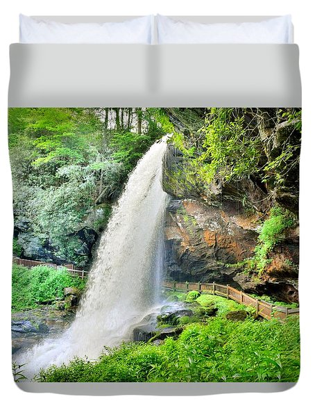 Dry Falls Highlands North Carolina 2 Duvet Cover