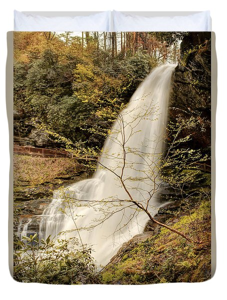 Duvet Cover featuring the photograph Dry Falls In North Carolina by Penny Lisowski