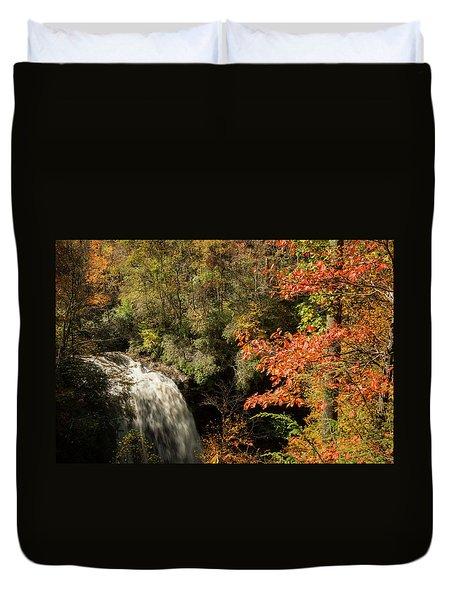 Dry Falls In North Carolina Duvet Cover