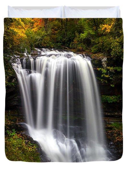 Dry Falls In October  Duvet Cover