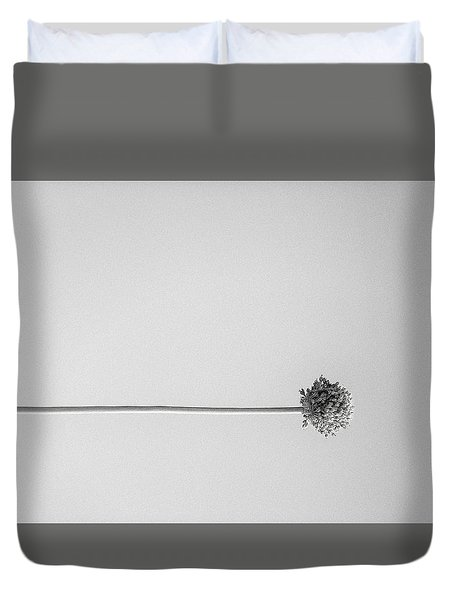 Dry Flower - Black And White Art Photo Duvet Cover