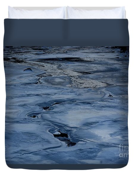 Dry Fork Freeze Duvet Cover