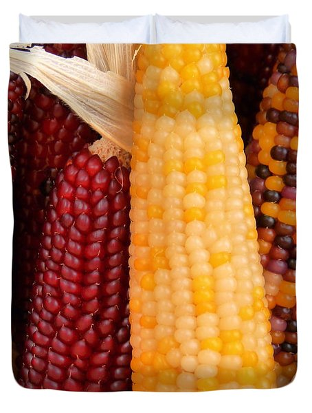 Dry Indian Corn Duvet Cover