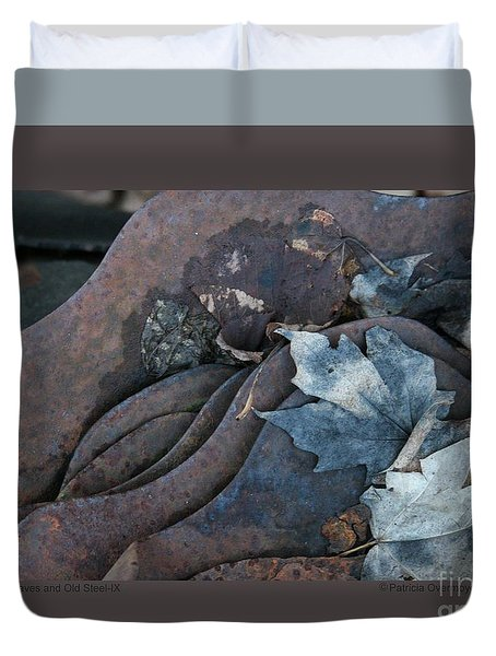 Dry Leaves And Old Steel-ix Duvet Cover