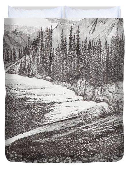 Dry Riverbed Duvet Cover