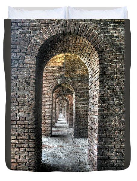 Dry Tortugas - Fort Jefferson - Doorways Duvet Cover
