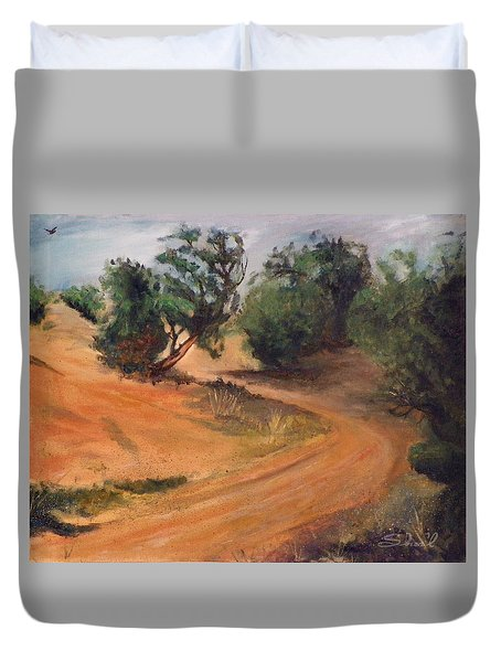 Dry Wash Road Duvet Cover