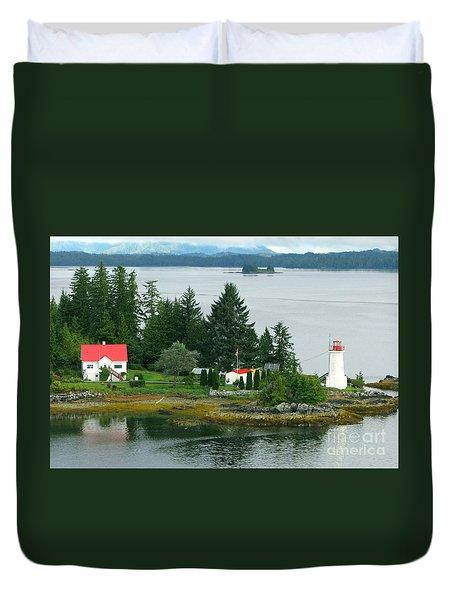 Dryad Point Lighthouse Duvet Cover