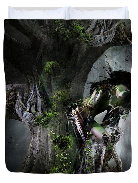 Dryad's Dance Duvet Cover by Mary Hood