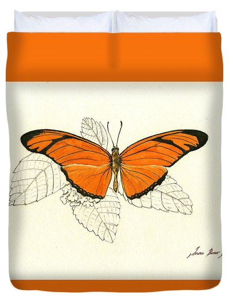 Dryas Iulia, Orange Julia Butterfly Duvet Cover