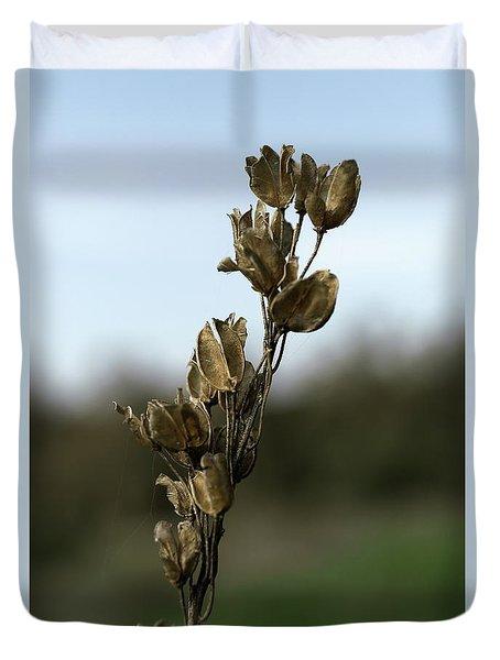 Drying Flower Duvet Cover by Shlomo Zangilevitch