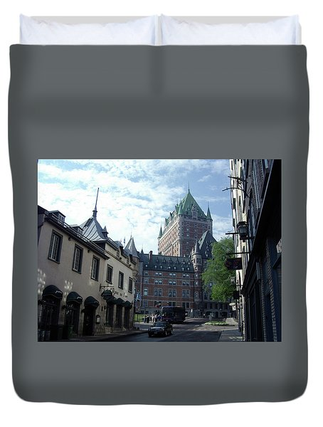 Duvet Cover featuring the photograph du Fort Chateau Frontenac by John Schneider