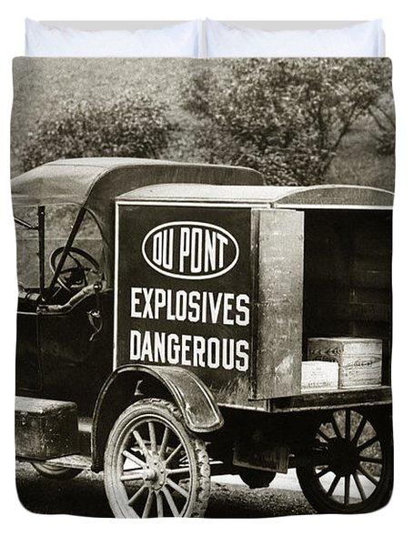 Du Pont Co. Explosives Truck Pennsylvania Coal Fields 1916 Duvet Cover