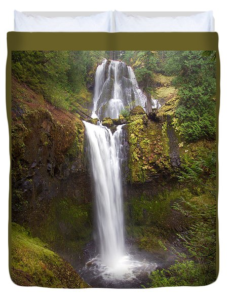 Duvet Cover featuring the photograph Dual Cascade by Todd Kreuter