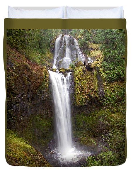Dual Cascade Duvet Cover by Todd Kreuter