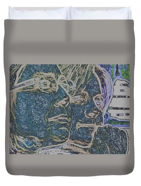 Dual Intensity - Study In Blue Duvet Cover