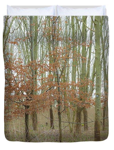 Dualing Trees Duvet Cover