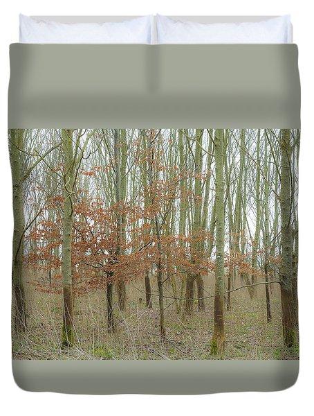 Dualing Trees Duvet Cover by Matthew Bamberg