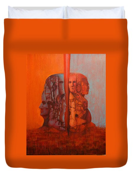 Duality Duvet Cover by J W Kelly