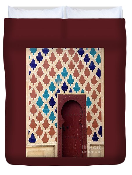 Dubai Doorway Duvet Cover