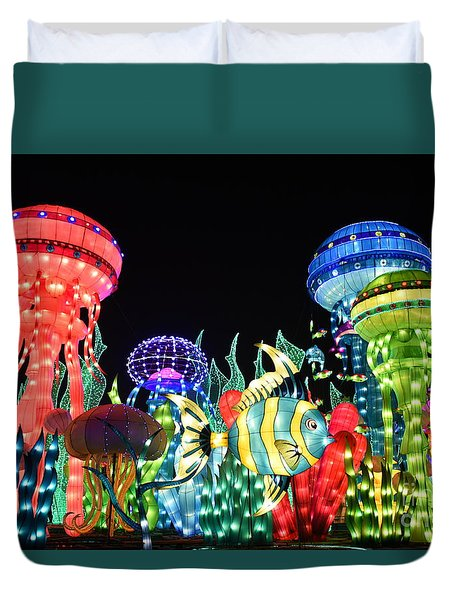 Dubai - Garden Glow Duvet Cover by Hanza Turgul