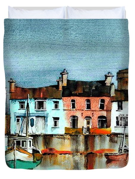 Dublin ... Skerries Harbour Duvet Cover
