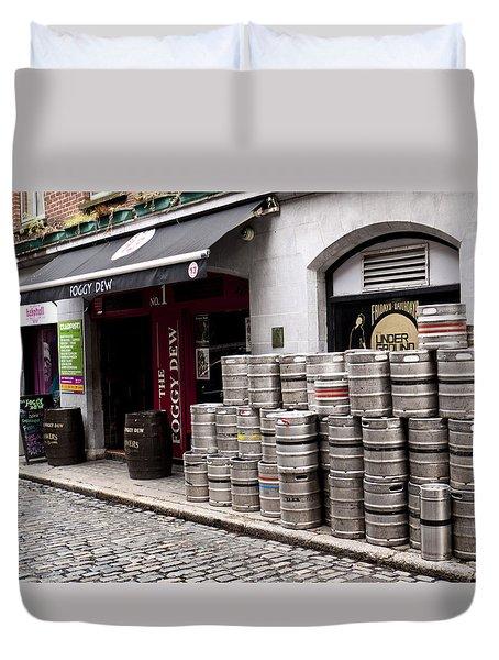 Dublin Beer Kegs Duvet Cover by Rae Tucker