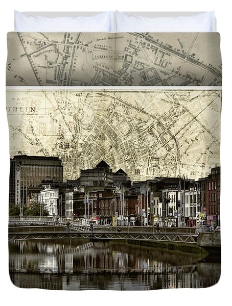 Dublin Skyline Mapped Duvet Cover