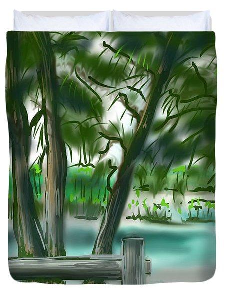 Dubois Park Lagoon Duvet Cover