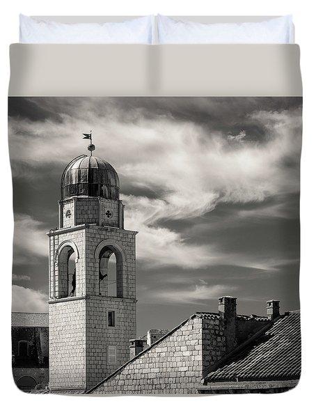 Dubrovnik Bell Tower Duvet Cover