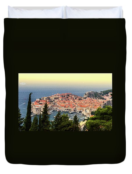 Dubrovnik Old City On The Adriatic Sea, South Dalmatia Region, C Duvet Cover